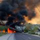 Pociąg wykoleił się na moście w Tempe w Arizonie